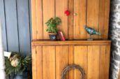 Pine early stepback cupboard