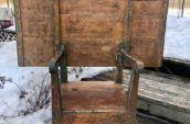 Tilt top 1820's table/chair (Nova Scotia)
