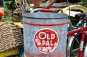 old pal red metal bucket