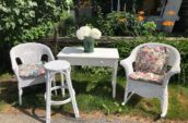 Wicker and early table