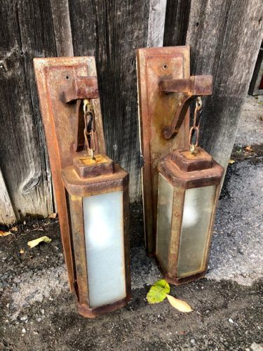 Early rustic outdoor lamps