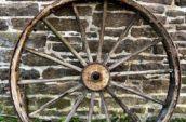 large Massey Harris wheel