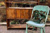 antique Pail bench, circa 1890's