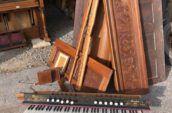 antique organ parts