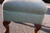 antique light blue foot stool