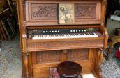 antique wood organ