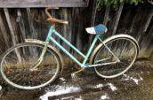 retro blue bicycle