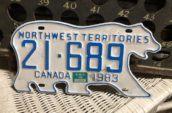 polar bear license plate