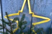 large yellow star ornament