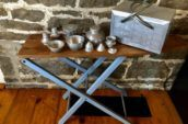 Metal basket with kit, 2WW. Wee coffee table