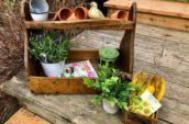 wooden gardening organizer
