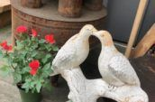 antique wooden bird carving