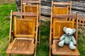 antique wooden folding chairs