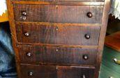 tall wooden dresser
