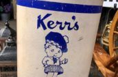 antique Kerr's lollypops container