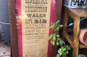 wooden frame with glass and osnabruck agricultural society exhibition event announcement