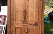 two door type wooden door