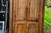 old four door kitchen cabinet