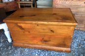 wooden rectangular chest