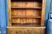 two door kitchen cabinet with three shelves