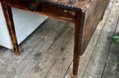 old wooden table on a wooden floor