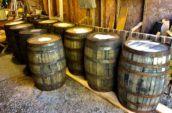 photo of wooden barrels