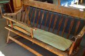 wooden rocker bench